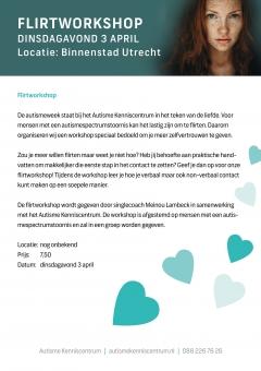 Autismeweek Event: Flirtworkshop 3 april