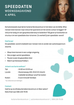 Autismeweek Event: Speeddate-avond 4 april